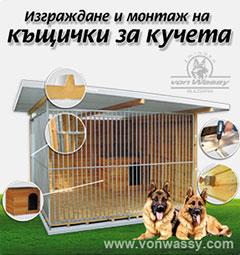 Изграждане на къщички за кучета